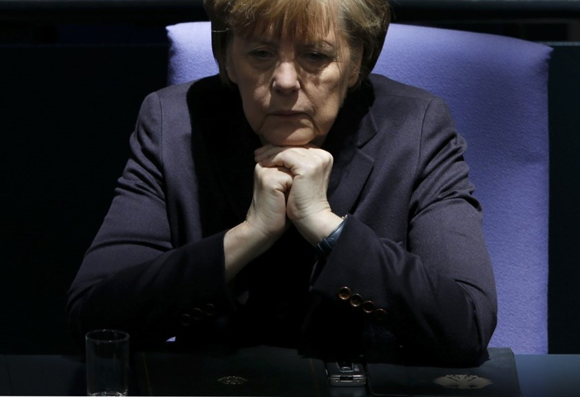 German Chancellor Merkel attends a session of Bundestag in Berlin