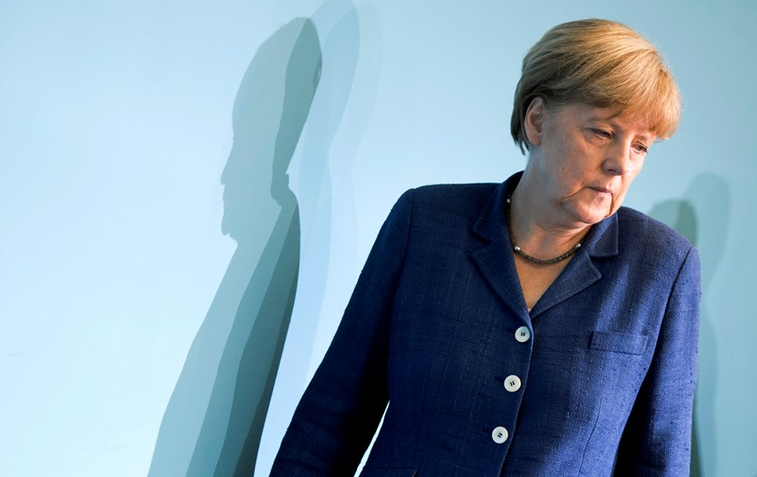 German Chancellor Angela Merkel attends a press confence with the Prime Ministers of East-German States on July 9, 2014 in Berlin.