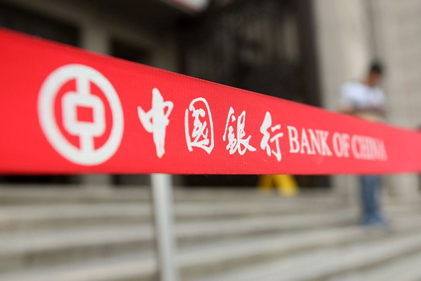 A signage of Bank of China (BOC) is pictured in Shanghai, China.