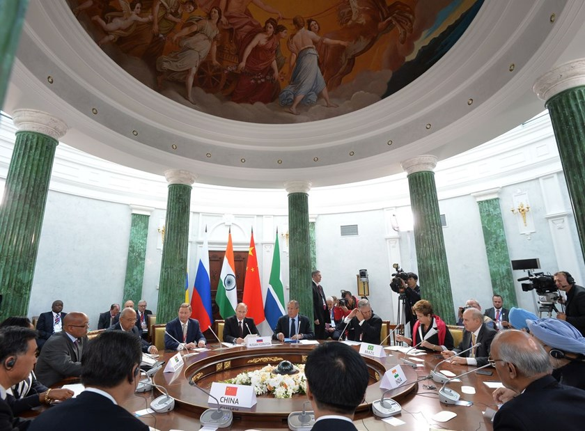 BRICS delegation heads at a meeting in St. Petersburg, Russia, on Sept. 5, 2013.