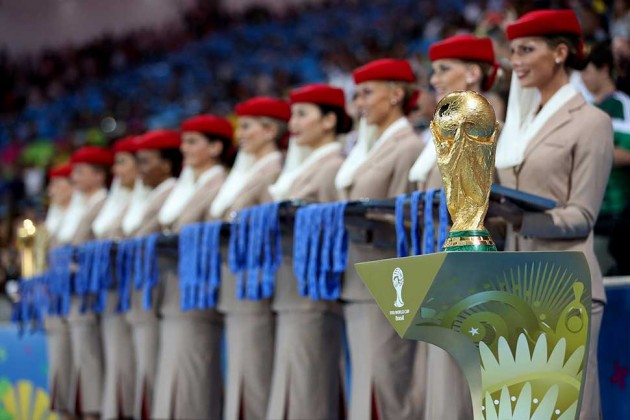 Emirates spent millions to get its flight attendants on the World Cup pitch