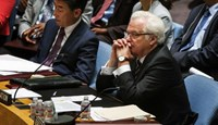 Russian Ambassador to the United Nations Vitaly Churkin listens during a U.N. Security Council meeting regarding the situation in Ukraine and the recent downing of Malaysia Airlines Flight MH17 at the United Nations headquarters in New York July 18, 2014.