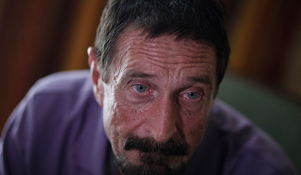 John McAfee, anti-virus software guru, speaks during an interview with Reuters in Guatemala City, December 5, 2012.