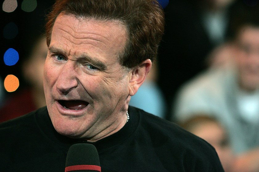 Actor Robin Williams during MTV's Total Request Live in this April 27, 2006 file photo in New York City.