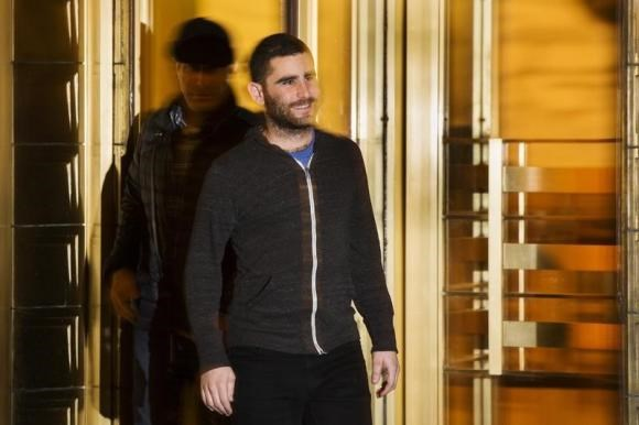 Bitcoin Foundation Vice Chairman Charlie Shrem exits the Manhattan Federal Courthouse in New York January 27, 2014.
