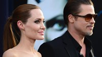 Angelina Jolie and Brad Pitt, seen at the premiere of Disney's 'Maleficent', in Hollywood, California, on May 28, 2014