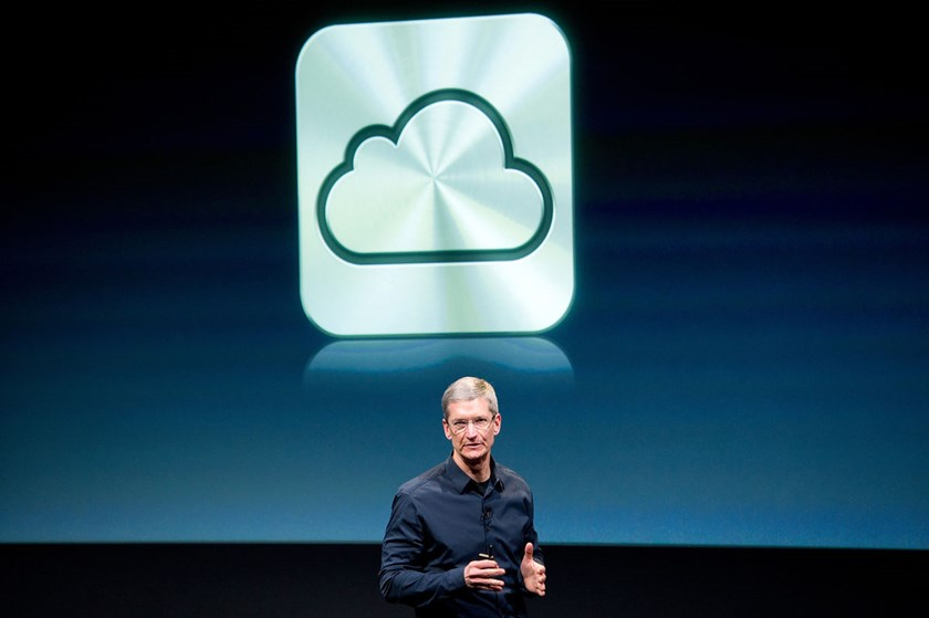 Apple Inc. CEO Tim Cook speaks about the iCloud service during an event at the company's headquarters in Cupertino, California, U.S. on Oct. 4, 2011. Apple said in its statement that iCloud wasn't breached by hackers and it encouraged people to use strong