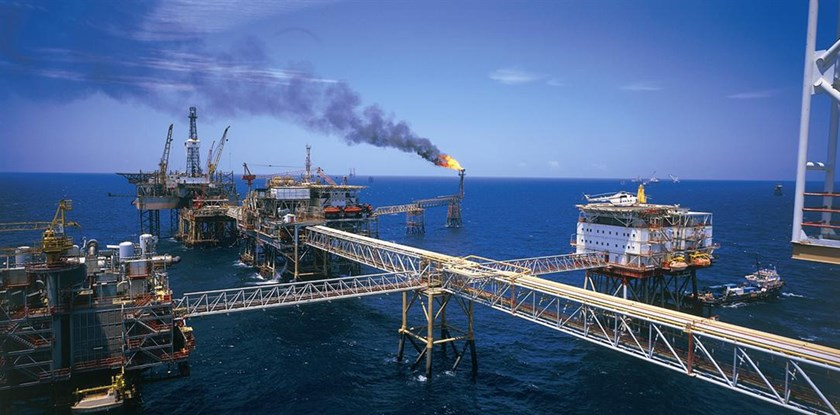 An oil drilling platform of PetroVietnam in the country's East Sea. Photo courtesy of PetroVietnam