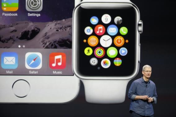 Apple unveils watch, larger iPhones in bid to retake innovation crown