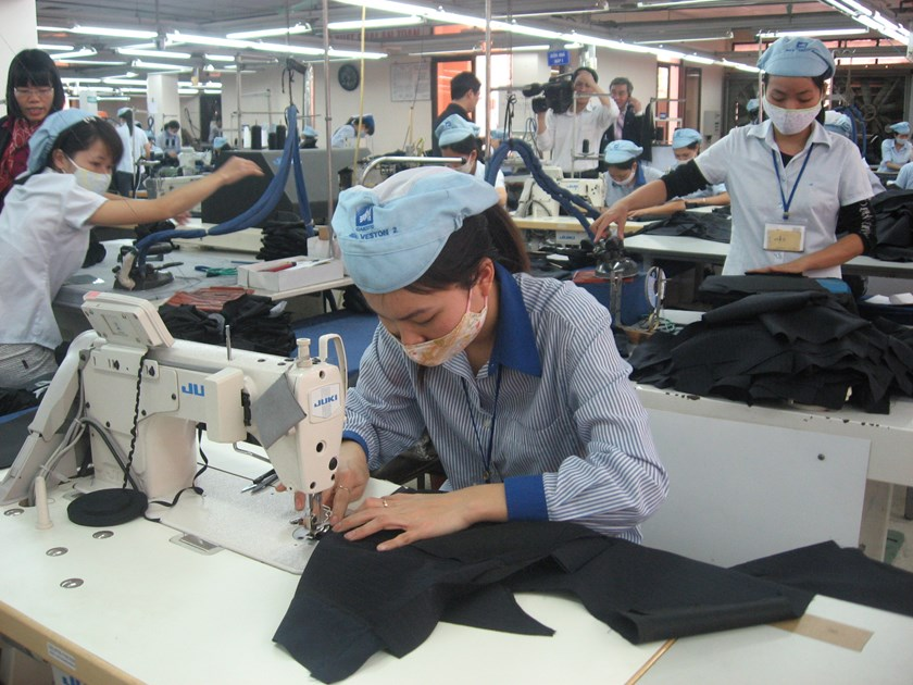 Workers at May 10 Garment Company, which belongs to the Vinatex Group. Photo courtesy of the Ministry of Industry and Trade