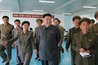 North Korean leader Kim Jong Un visits the October 8 Factory in this undated photo released by North Korea's Korean Central News Agency (KCNA) in Pyongyang August 31, 2014.
