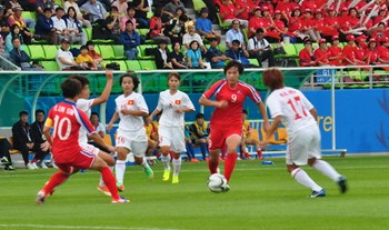 Asian Games: Vietnam women team beaten by N.Korea in football competition