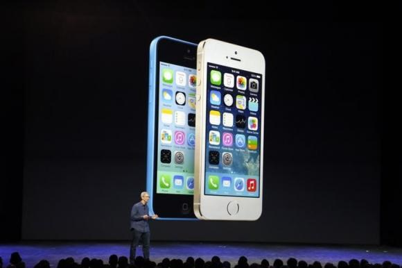 Apple Chief Executive Officer (CEO) Tim Cook speaks during an Apple event to announce the iPhone 6 and the iPhone 6 Plus at the Flint Center in Cupertino, California, September 9, 2014.
