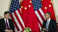 U.S. President Barack Obama and Chinese President Xi Jinping, left, meet at the U.S. ambassador's residence in The Hague on Mar. 24, 2014 ahead of the Nuclear Security Summit.