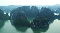 Bird's eye view of scenic Ha Long Bay