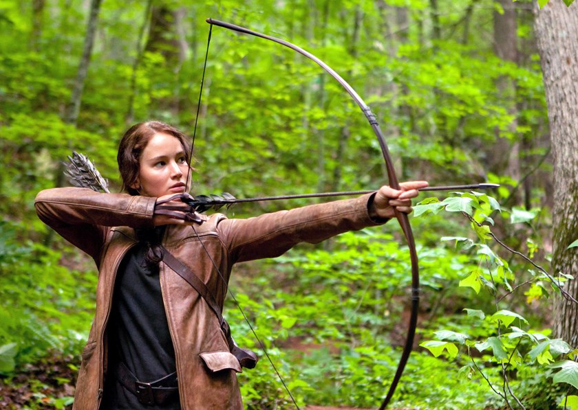 "Jennifer Lawrence in ""The Hunger Games."""