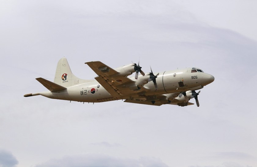 A South Korean Air Force (ROKAF) P-3 Orion takes off from RAAF Pearce air base March 26, 2014, to assist with the international search effort trying to locate missing Malaysia Airways Flight MH370.