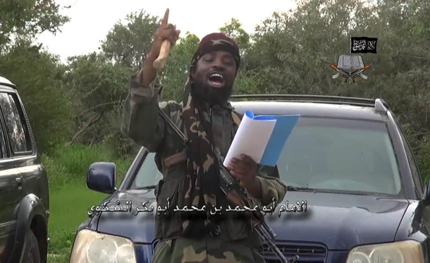 A screengrab taken on August 24, 2014 from a video released by Boko Haram shows the leader of the Nigerian Islamist extremist group, Abubakar Shekau, delivering a speech at an undisclosed location
