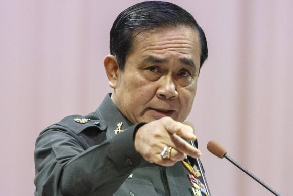 Thailand's Prime Minister Prayuth Chan-ocha gestures as he speaks during an event titled ''The Instruction on the Procedures of Members of the National Reform Council'' at the Army Club in Bangkok September 4, 2014.