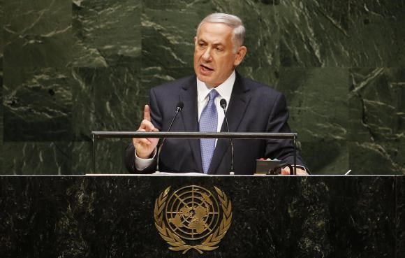 Israel's Prime Minister Benjamin Netanyahu addresses the 69th United Nations General Assembly at the U.N. headquarters in New York September 29, 2014.