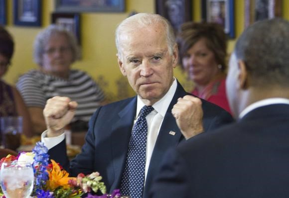 U.S. Vice President Joe Biden speaks with politicians and business owners in a round table discussion on raising the minimum wage at Casa Don Juan restaurant in Las Vegas, October 6, 2014.