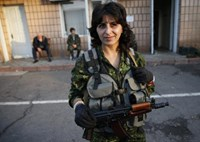 Women take up arms on both sides of conflict in east Ukraine