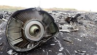 Parts of the Malaysia Airlines Flight MH17 at the crash site in the village of Hrabove (Grabovo), 80km east of Donetsk.