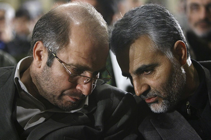 Suleimani, seen here, right, in 2006, who served in the 1980-1988 war against Iraq while in the Revolutionary Guards, was appointed as Quds Force commander in 1997.