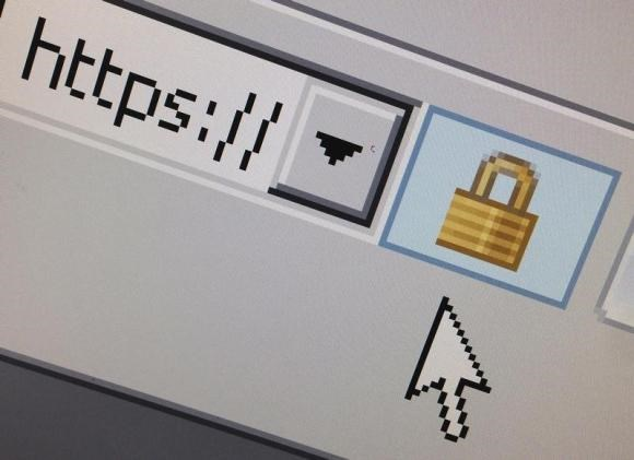 A lock icon, signifying an encrypted Internet connection, is seen on an Internet Explorer browser in a photo illustration in Paris April 15, 2014.