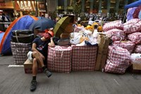 Hong Kong students, officials set for first talks on political crisis