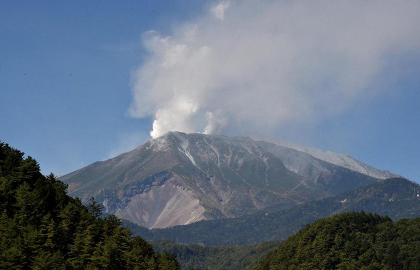 Japan could be nearly destroyed by a massive volcanic eruption over the next century, putting almost all of the country's 127 million-strong population at risk, according to a new study