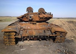 Charred tanks in Ukraine point to Russian involvement