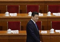 China's President Xi Jinping arrives before the opening session of the National People's Congress (NPC) at the Great Hall of the People in Beijing,March 5, 2014.