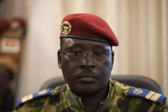 Lieutenant Colonel Yacouba Isaac Zida attends a news conference in which he was named president at military headquarters in Ouagadougou, capital of Burkina Faso November 1, 2014.