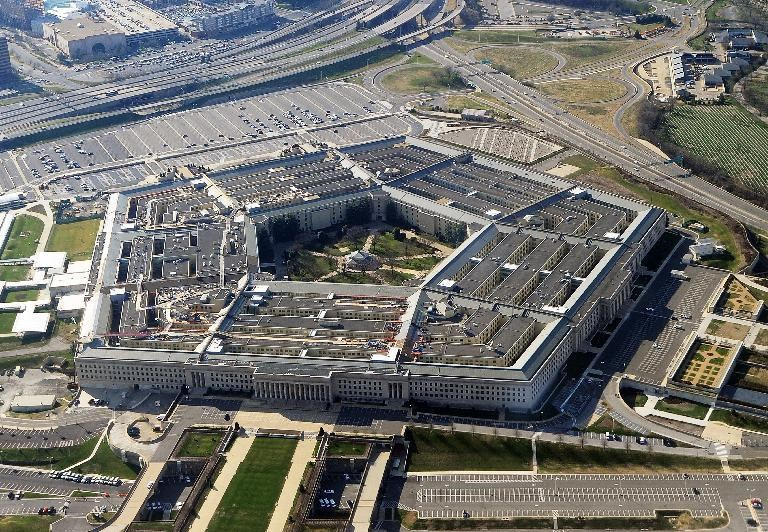 The Pentagon building in Washington, DC, on December 26, 2011