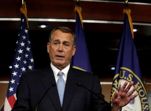 U.S. Speaker of the House Representative John Boehner (R-OH) speaks during his first news conference after the U.S. mid-term elections, in Washington November 6, 2014.