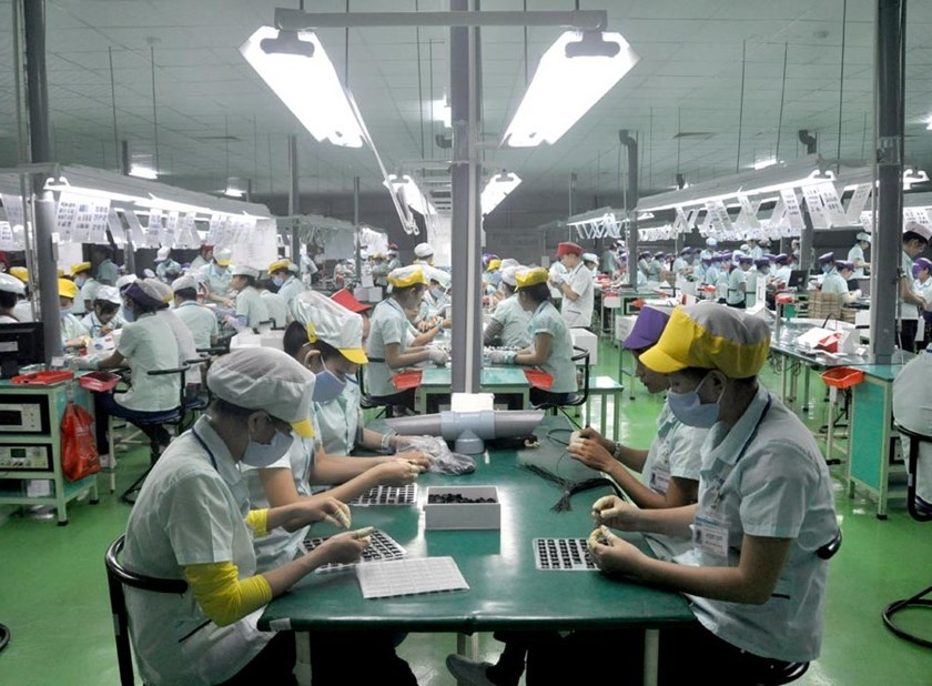 A file photo taken at a factory of Samsung Electronics Vietnam
