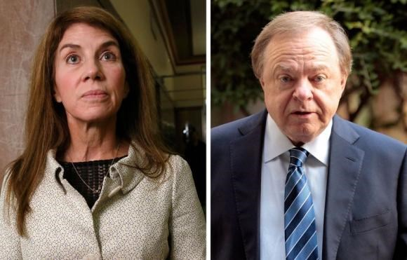 Sue Ann Hamm and Continental Resources Chief Executive Officer Harold Hamm in a combination image.