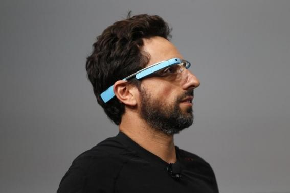 Sergey Brin, CEO and co-founder of Google, wears a Google Glass during a product demonstration during Google I-O 2012 at Moscone Center in San Francisco, California June 27, 2012.