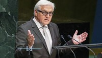 Frank-Walter Steinmeier, German Minister of Foreign Affairs, speaks at the 69th United Nations General Assembly in New York City, on Sept. 27, 2014.