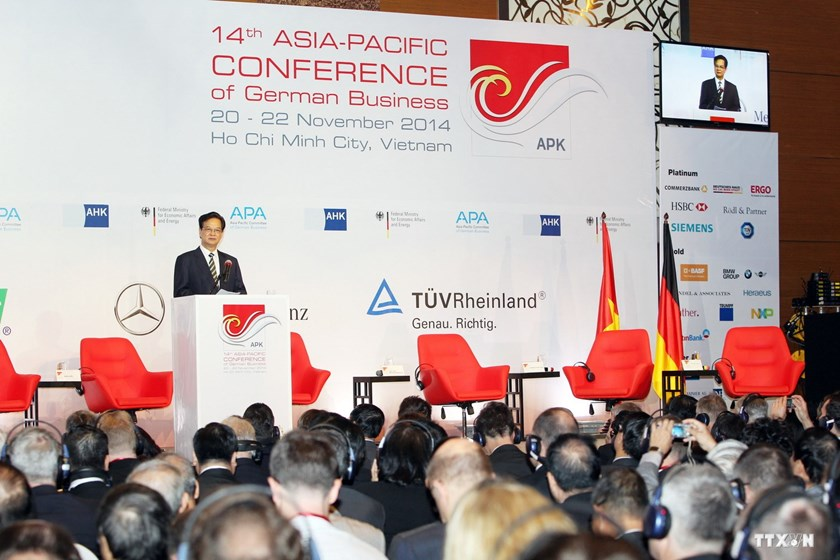 Prime Minister Nguyen Tan Dung addresses the Asia-Pacific Conference of German Business in Ho Chi Minh City on Friday