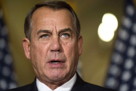 Speaker of the House John Boehner (R-OH) denounces the executive order on immigration made by U.S. President Barack Obama during a statement on Capitol Hill in Washington November 21, 2014.