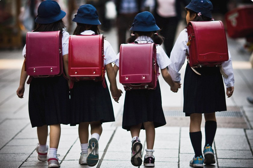 School age girls in Japan.
