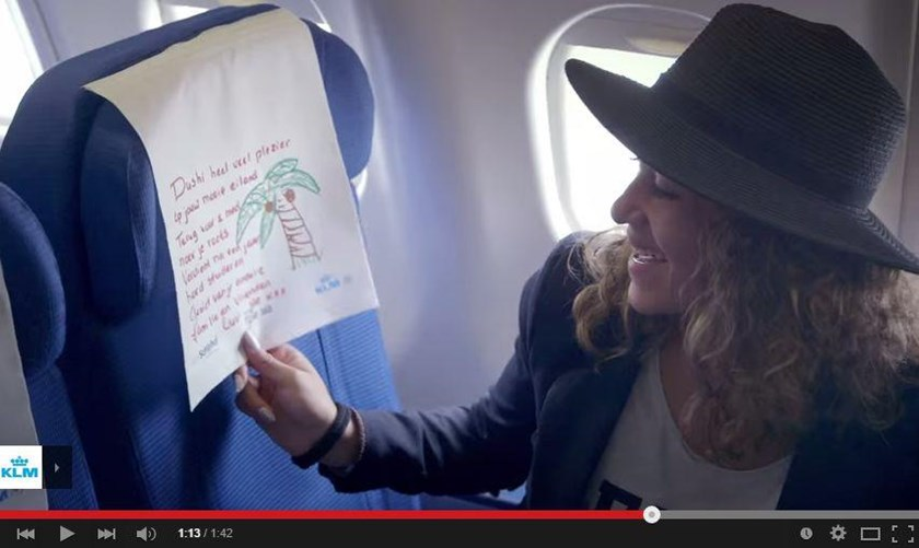 Heartwarming airline stunt brings passengers to tears