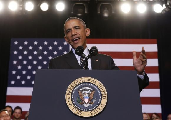 U.S. President Barack Obama speaks about immigration reform while at the Copernicus Community Center in Chicago November 25, 2014.