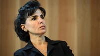 French former justice minister Rachida Dati takes part in an inauguration ceremony in Paris, on October 6, 2014