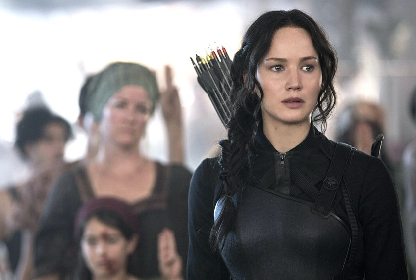 "Jennifer Lawrence in ""The Hunger Games: Mockingjay - Part 1."""