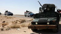 Tanks are dispatched to security forces supported by tribes during the fight against Islamic State, in Ramadi. The forces protecting Ramadi include tribesmen from Albu Alwan and Albu Fahad, as well as police officers from both these tribes.