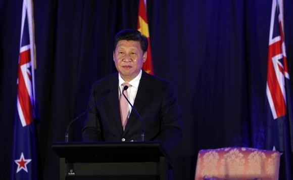 China's President Xi Jinping attends a news conference in Wellington, November 20, 2014.