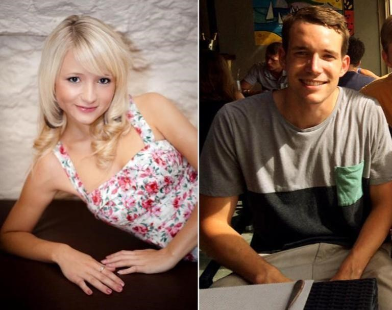 Undated images received from Britain's Foreign and Commonwealth Office shows British students, Hannah Witheridge and David Miller who were killed while on holiday in Thailand